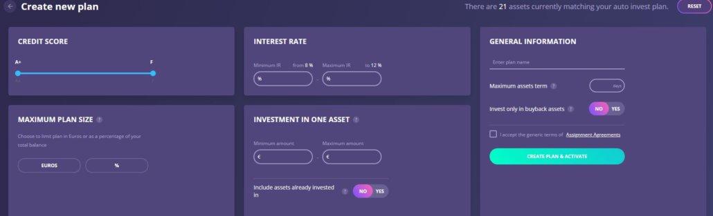 Auto-Invest at Debitum Network
