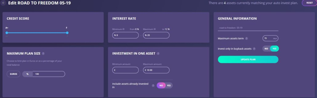 Editting the Auto-Invest