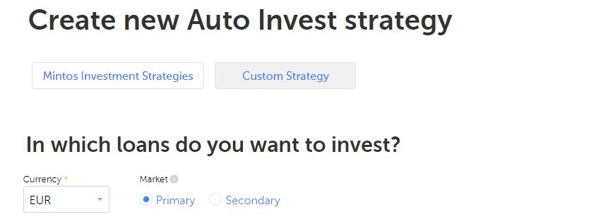 auto-invest strategy