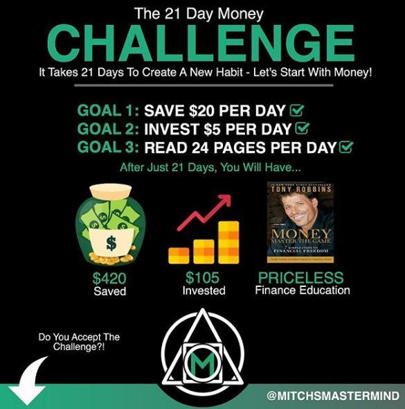 21 Day Money Challenge by Mitchsmastermind