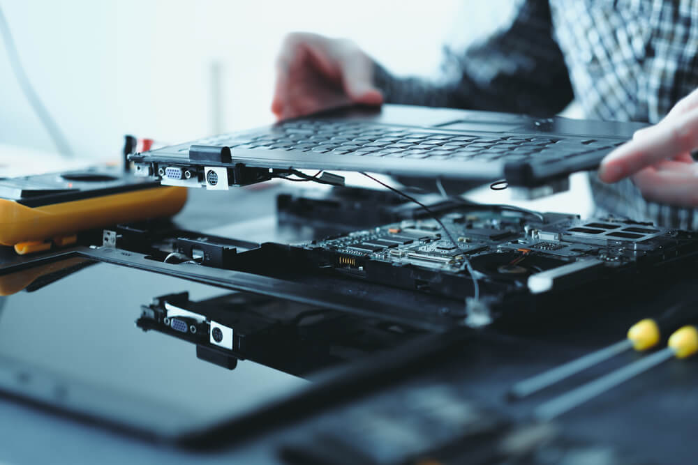 broken laptop you have to repair