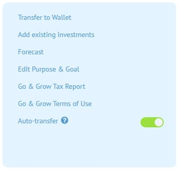 Go and Grow withdrawal request
