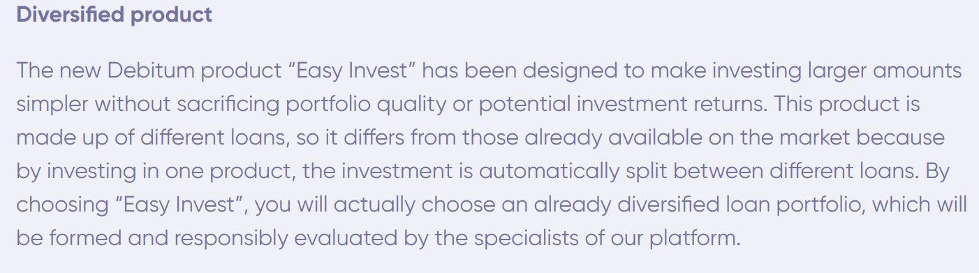 Debitum Easy Invest