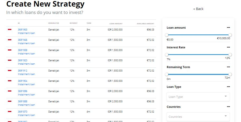 Auto-Invest on Income Marketplace