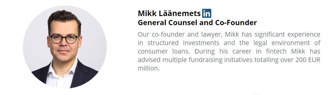 Mikk Läänements, Lawyer and Co-Founder
